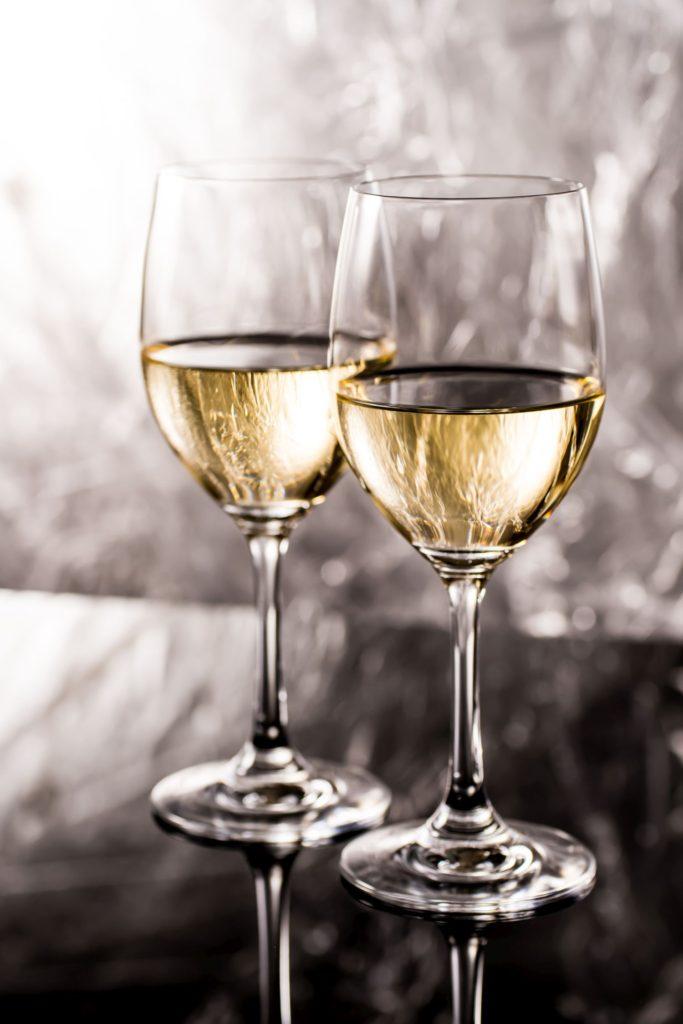 貴腐ワインのはいったグラス